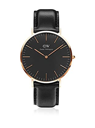 Daniel Wellington Reloj con movimiento cuarzo japonés Woman Classic Sheffield black 36 mm