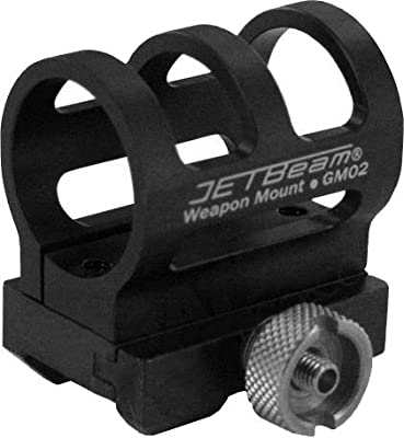 JETBeam GM-02 Gun Weapon Mount for Raptor RRT-2, Black by JETBeam