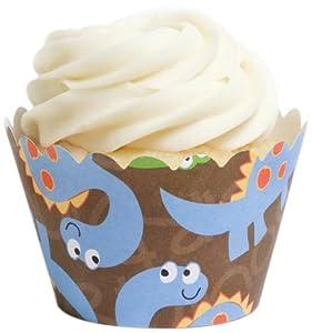Dress My Cupcake Dinosaur Cupcake Wrappers, Set of 12
