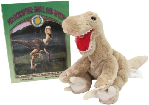 Velociraptor: Small and Speedy (Prehistoric Pals Book & Toy Set) (Mini book with stuffed toy dinosaur) (Smithsonian's Prehistoric Pals)