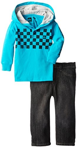 Quiksilver Baby-Boys Infant Blue Hoody With Jeans, Blue, 18 Months front-521894