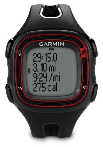Garmin Forerunner 10 GPS Running Watch - Black/Red