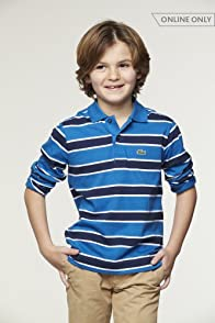 Boy's Long Sleeve Bi-color Striped Polo