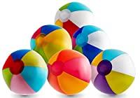 Inflatable 12'' Beach Balls Pack from Beach Ball 4 Fun Offers 12 Colorful Outside Toys for Birthday Party, Cute for Baby Shower Ideas. Great as Pool & Beach Toys, Party Favor. Eco-friendly, Individually Packed. Let your creativity shine! by Fun Trading