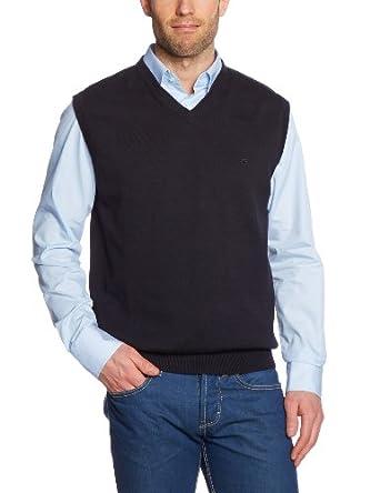 CASAMODA Herren Pullunder Comfort Fit 004160/80, Gr. 48 (S), Schwarz (80 schwarz)