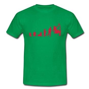 Spreadshirt, evolution_homme_human_sport_escalade, Tee shirt classique Homme, vert, XL