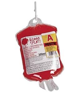 Blut Duschgel im Infusionsbeutel - Scherzartikel
