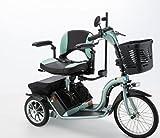 フランスベッドハンドル型三輪電動車いすS637スマートパル グリーン