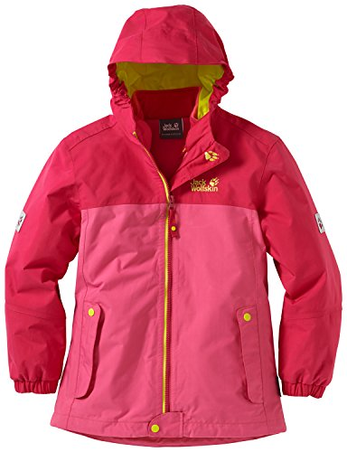 Jack Wolfskin Mädchen 3-in-1 Jacke Iceland Jacket, Rosebud, 128, 1605261-2099128