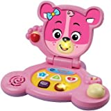 Ultimate VTech Baby Bear Pink Laptop - Cleva Edition ChildSAFE Door Stopz Bundle