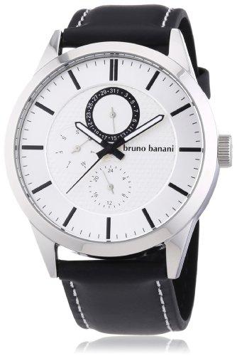 Bruno Banani Men's Quartz Watch Alos BR22055 with Leather Strap