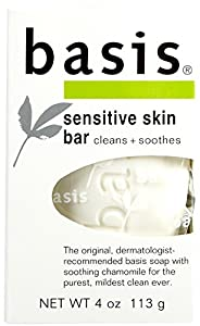 Basis Sensitive Skin Bar Soap - 4 oz (3 pack)