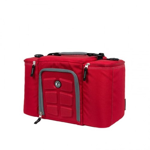 6 Pack Fitness Innovator 300 Insulated Meal Management Bag Red