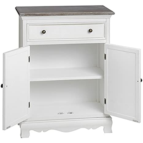 Hill Interiors Large Louisiana Single Drawer Cabinet, Brown/White