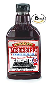 Mississippi Bbq Bbq Sauce Sweet N Spicy 18-ounce Pack Of 6 from Mississippi BBQ