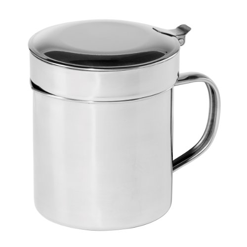 Oggi 7324 Stainless Steel Grease Can with Removable Strainer, 1-Quart (Bacon Grease Strainer compare prices)