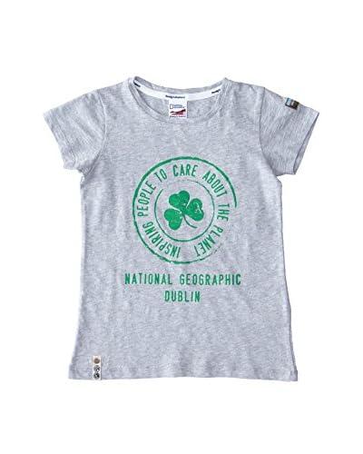 National Geographic T-Shirt Manica Corta [Grigio]