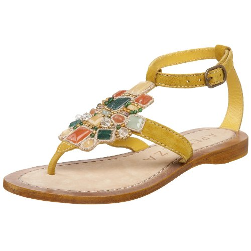 79f1b022b67b8 Colorful stones and beading. Buckle closure. Leather lining and footbed.  Leather sole. 3 4