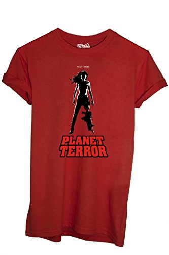 T-SHIRT PLANET TERROR-MOVIE by MUSH Dress Your Style - Uomo-L-ROSSA