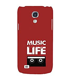 EPICCASE Music is my life Mobile Back Case Cover For Samsung Galaxy S4 Mini (Designer Case)