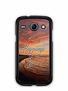 YuBingo Happiness is a Choice Designer Mobile Case Back Cover for Samsung Galaxy Core