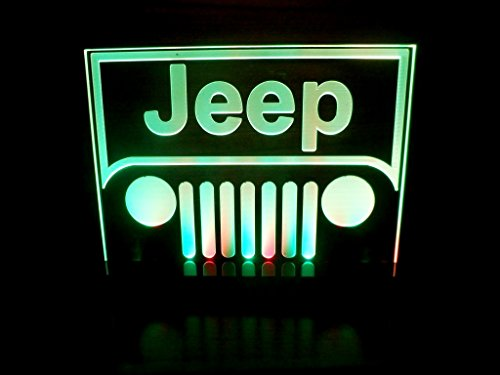 Jeep Logo LED Lamp Night Light Bedroom Game Room Man Cave Signs (Yj Overhead Console compare prices)
