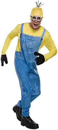 Minion Kevin Costume With Accessories For Men - Despicable Me Cartoons Cosplay Complete Set 100% Polyester - Great For Halloween Parties - Multicolor X-Large