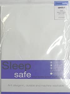 Sleep Safe Vinyl Waterproof Mattress Cover Single Bed by Unknown
