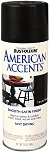 Rust-Oleum 7946830 American Accents Spray, Satin Canyon Black, 12-Ounce