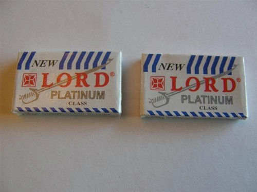15 Lord Double Edge Safety Razor Blades Platinum Class (Razor Platinum compare prices)