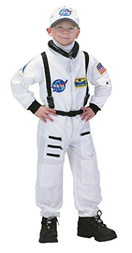 Boys Astronaut Suit White Kids Child Fancy Dress Party Halloween Costume