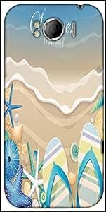Snoogg Summer Holiday Designer Protective Back Case Cover For HTC Sensation Xl