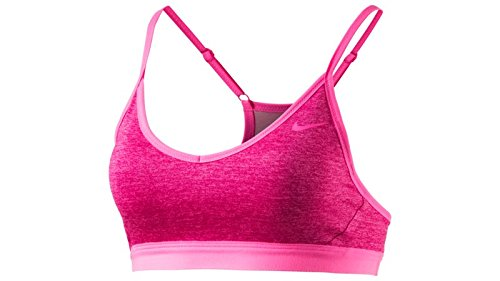 Nike Women's Pro Indy Sports Bra Black Heather/Photo Blue Extra Small