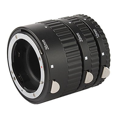3-Piece Macro Extension Tube Set (Abs) For Canon D-Slr Camera