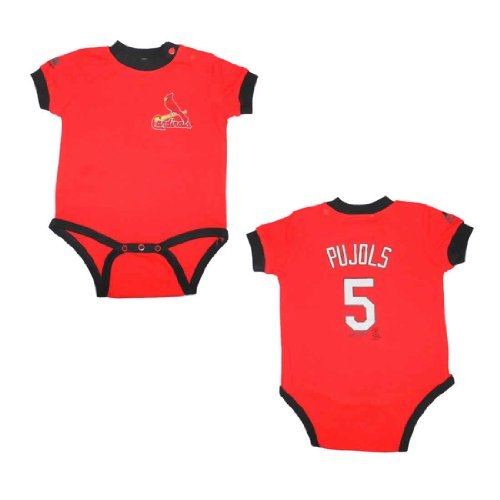 MLB St Louis Cardinals Pujols #5 Baby One-Piece Romper / Onesie 24 Red at Amazon.com