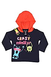 Chirpie Pie by Pantaloons Boy's Hooded T-Shirt (205000005609926, Blue, 9 - 12 Months)