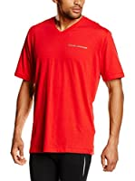 Under Armour Camiseta Manga Corta Charged V-Neck (Rojo)