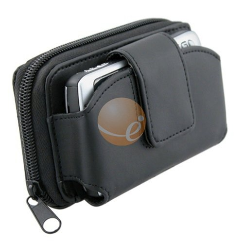Universal Wallet Leather Case w/ Credit Card Holder & Clip, Large