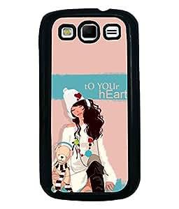 Fuson Teddy Girl Back Case Cover for SAMSUNG GALAXY S3 - D3932