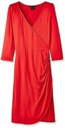 Gant Women's Cotton Wrap Dress (GWDD0005_Red_Medium)