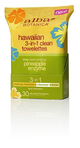 Alba Botanica - Hawaiian 3-In-1 Clean Towelettes Pineapple E