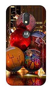 Go Hooked Designer Soft Back cover for Moto E3 Power + Free Mobile Stand (Assorted Design)