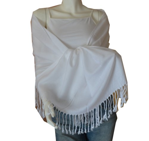 New Best Soft Pashmina/Shawl/Scarf/Wrap/Stole (white)