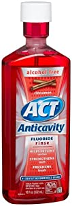 ACT Anticavity Fluoride Rinse, Cinnamon, Alcohol Free 18-Ounce Bottle