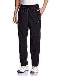 Nike Men's Polyester Track Pants (091203276293_644836-011_Medium_Black/Black/(White))