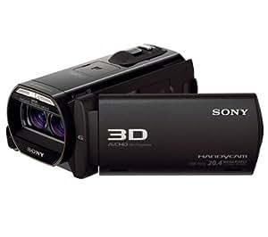 SONY 3D-Videokamera mit hoher Auflösung Handycam HDR-TD30VE + SDHC-Speicherkarte 16 GB Class 10 + Fototasche Größe M + Lithium-Akku NP-FV50