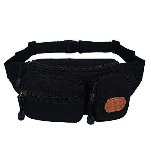 Heard Me Unisex Vintage Canada Flag Fanny Pack Waist Packs Phone Holder Adjustable Running Belt For Cycling,Hiking,Gym