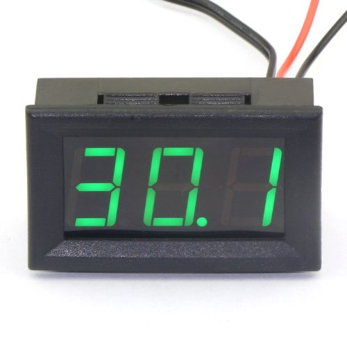 drokr-dc-12v-digital-thermometer-temperature-gauge-50110c-embedded-temp-detector-with-probe-green-le