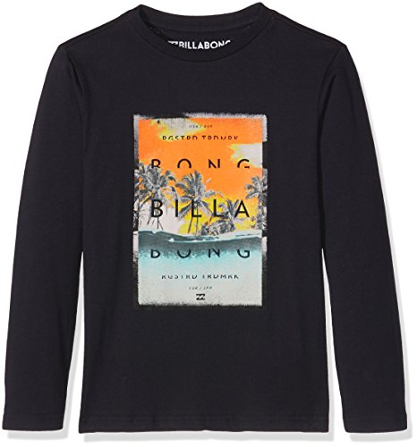 Overflow Billabong-Maglietta a maniche lunghe da ragazzo, colore: blu scuro, taglia: 16 anni (taglia del produttore: 16)
