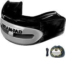 Brain-Pad Pro+ - Protector bucal/de la articulación mandibular, canal doble, negro/gris, para jóvenes